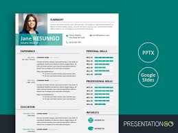 Resume In Powerpoint Alecta Professional Resume Template For Powerpoint And