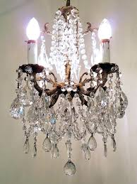 small vintage chandelier antique brass and crystal petite chandelier small vintage chandelier vintage french chandelier vintage