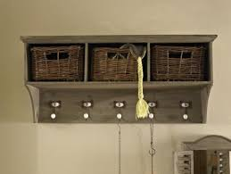 Coat Rack With Storage Baskets Amazing Coat Hooks With Storage Baskets Listitdallas