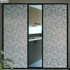 sliding glass door decals no glue static decorative window flower sunscreen doors design ideas for