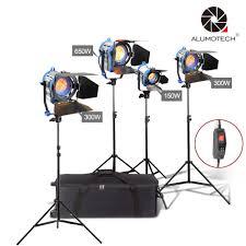 Arri 4 Light Kit Us 595 0 30 Off Alumotech As Arri Dimmer Built In 150w 300w 2 650w Fresnel Tungsten Spot Light Stand 4 Case Kit For Photography Studio Video In