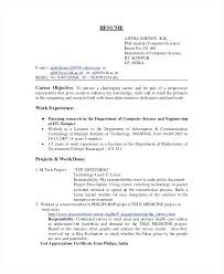 Student Resumes Gorgeous Sample Engineering College Student Resume Computer Science Example