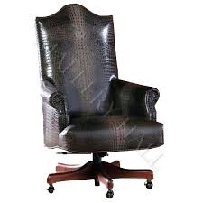 custom made office chairs. Delighful Office Custommade Office Chair In Smooth Crocodile Leather Specifications  Width 24u201d Depth 30u201d Ht 47u201d With Custom Made Office Chairs M