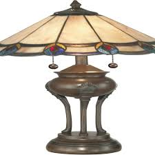 home element 2 light tiffany table lamp antique bronze