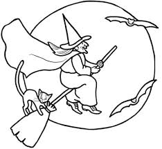 Small Picture Witch coloring pages with cat and bats ColoringStar