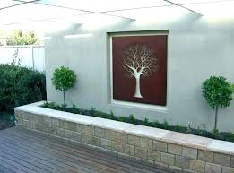 photo wall art outdoor decor ideas decorations garden tree outside metal ph outdoor wall art ideas garden