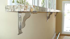 countertop wall brackets on chic for types installation federal brace