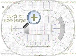 Oklahoma City Thunder Arena Seating Chart Chesapeake Energy Arena Seat Row Numbers Detailed Seating