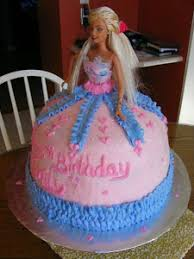 6 Cute Barbie Girl Birthday Cake Designs