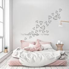scattered diamonds wall decal on rose gold wall art stickers with scattered diamonds wall decal elegance wall decals