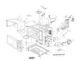 panasonic model nn l531wf countertop microwave genuine parts Microwave Oven Electrical Schematics at Panasonic Microwave Schematics