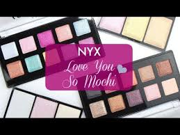 nyx love you so mochi live swatches review