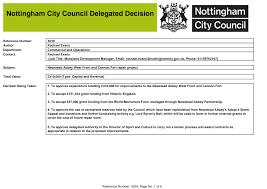 Nottingham City Council Delegated Decision