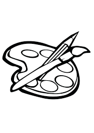 Paint Brush Coloring Page Paint Coloring Pages Paint Brush Coloring