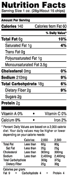 for nutrition info 100 whole grain