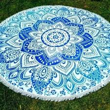 round outdoor tablecloth beach throw mandala decor life hippie picnic tablecloths