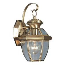 Solid Brass Outdoor Lighting Livex Lighting 2051 01 Monterey 1 Light Outdoor Antique Brass Finish Solid Brass Wall Lantern With Clear Beveled Glass