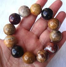 <b>Браслет</b> из натурального кокосового корня и <b>яшмы</b>, 18 мм ...