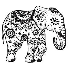 Small Picture Adult Coloring Pages Of Elephants Children Coloring