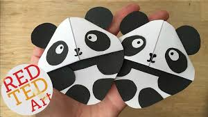 panda bookmarks these corner bookmarks are sooo cute and easy to make than you think all you need is some white and black paper