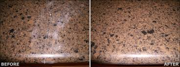 countertop quartz repair before after