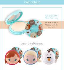 Tsum Tsum Color Chart Oil Control Blur Pact 12g Cathy Doll Disney Tsum Tsum Natural Blur Olaf