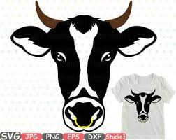 heifer silhouette. Exellent Heifer Cow Head Horns Silhouette SVG Clipart Cowboy Bull Buffalo Boho Farm Heifer  769S Throughout V