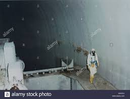 Nuclear Engineer Inside Unit 2 Of The Three Mile Island Nuclear
