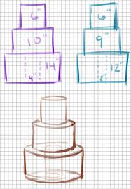 Wedding Cake Tier Size Chart Cake Dimensions Help Please See Image