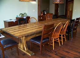 elegant 12 ft rustic dining trestle table and bench rockyblue 12ft dining room table ideas