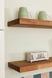 How To Make Solid Wood Floating Shelves Adorable Solid Wood Shelves Wooden Shelf Building Or Just Buy Models Of