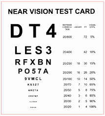 Reading Vision Test Chart 53 Expository Standard Eye Chart Test