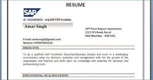 Abap Fresher Resume Kantosanpo Com