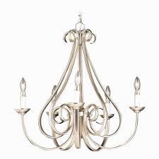 kichler dover 3 light foyer pendant awesome kichler dover 5 light chandelier in brushed nickel