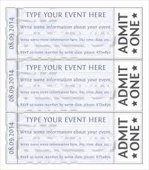 Fundraising Ticket Templates