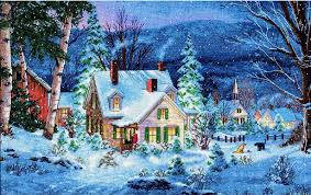 7 Magical Snow Scenes To Stitch This Winter Sewandso