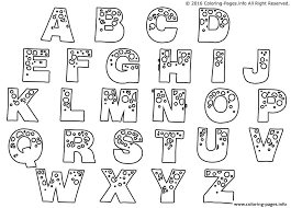 Small Picture BUBBLE LETTERS Coloring Pages Free Printable