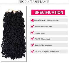 Buy Bol Synthetic 18inch 12strands Pack Black Faux Locs Wavy