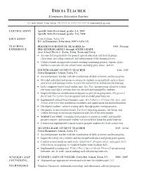 Teaching Sample Resume Teacher Resumes Reading Resume Best Ideas