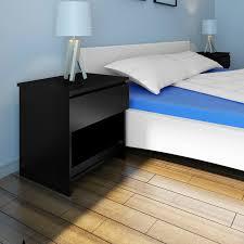Nur 7389 1 Schublade Nachttisch Schlafzimmer Tabelle Schwarz