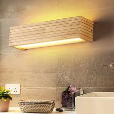 DX <b>Modern Wood Wall Lights</b> Bathroom Mirror lamp Hallway ...