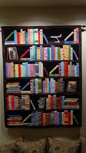 Bookshelf Quilt Pattern Mesmerizing Bookshelf Quilt Personalize The Book Titles For A Bookworm