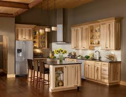 10 amazing modern hickory kitchen cabinets for your home design light wood hickory kitchen cabinets with white backsplash and vent hood also black
