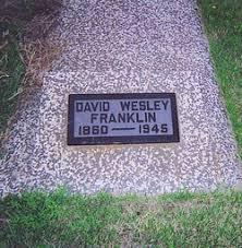 David Wesley Franklin (1860-1945) - Find A Grave Memorial