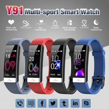 <b>Y91 Smart Bracelet</b> IP68 Waterproof Multi sport Blood Pressure ...