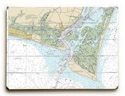 Nc Oak Island Southport Bald Head Island Nc Nautical Chart Sign Oak Island Map Wall Art Bald Head Island Map Decor