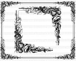 Antique Frame Victorian Designs Vintage Clip Art Illustrations