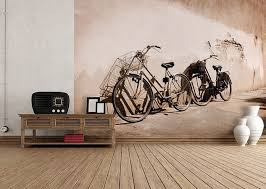 old bikes wall mural wallpapers for