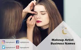catchy makeup artist business names