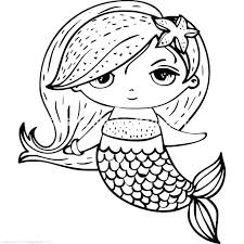 picture of mermaid to color.  Picture Mermaid Printable Coloring Pages Anime  Color Cute   And Picture Of Mermaid To Color